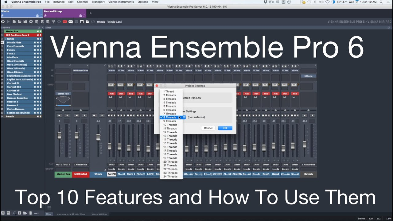 Top 10 Features Of Vienna Ensemble Pro 6 And How To Use Them Youtube