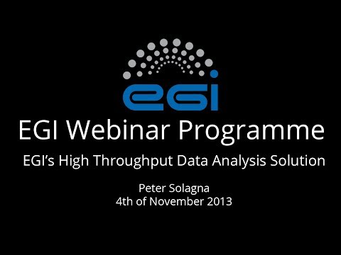 EGI's High-Throughput Data Analysis Solution