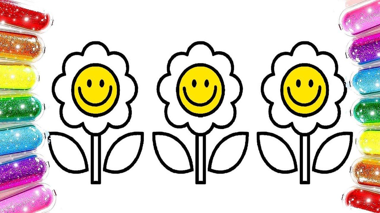 Learn Colors Flowers çiçek Boyama Renkleri öğreniyorum Youtube