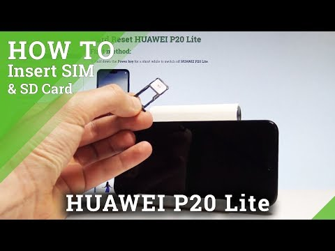 How to Insert SIM & SD in HUAWEI P20 Lite - Install Nano SIM and