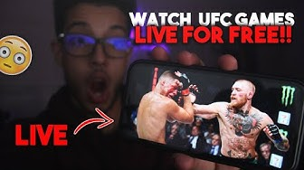 How To Watch UFC Live For Free - 2020