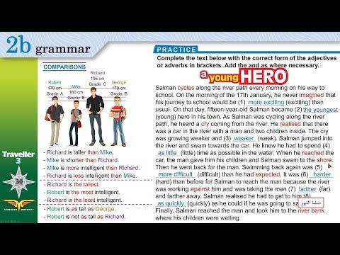 Traveller 3 2b grammar ADJECTIVES - ADVERBS OF MANNER - COMPARISONS + Workbook B,C