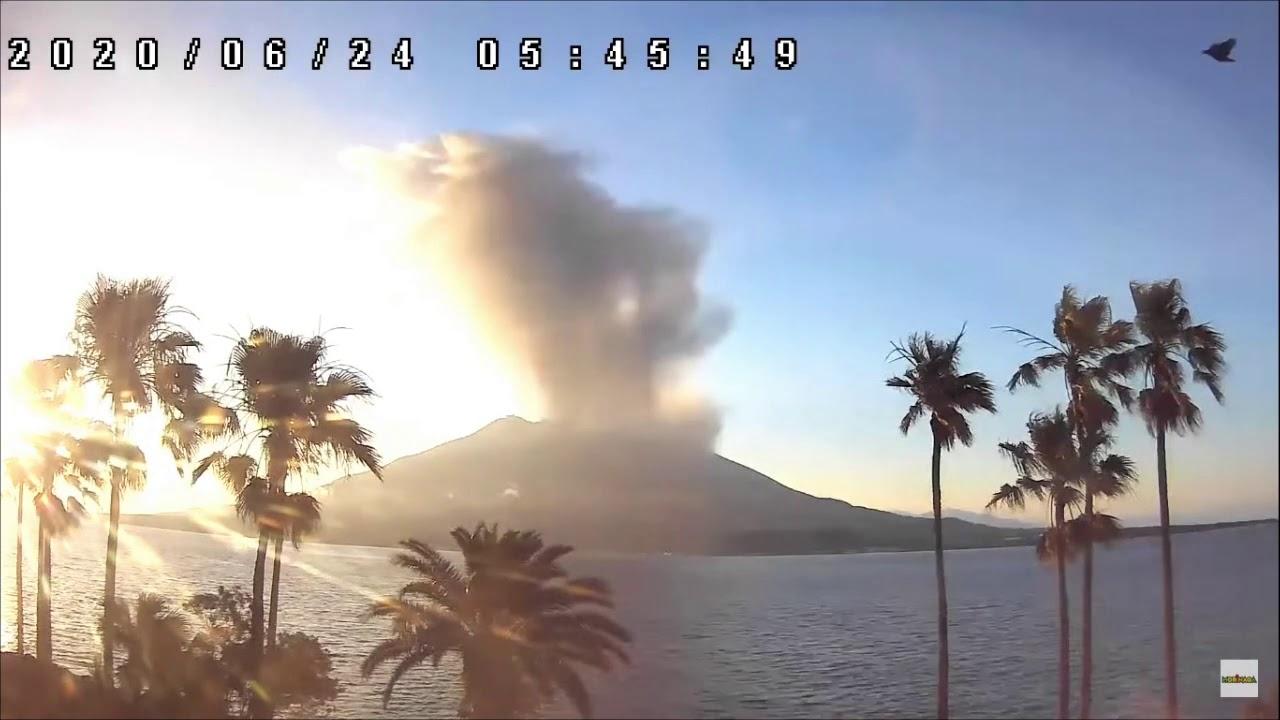 桜島 噴火 2020年06月24日 05時35分-05時59分 (Sakurajima eruption June 24, 2020 05:35-05:59)