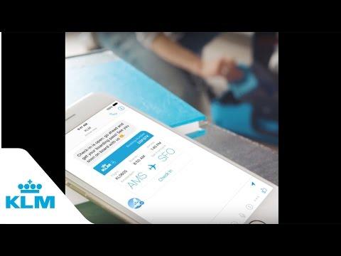 KLM Check-in Reminder On Messenger