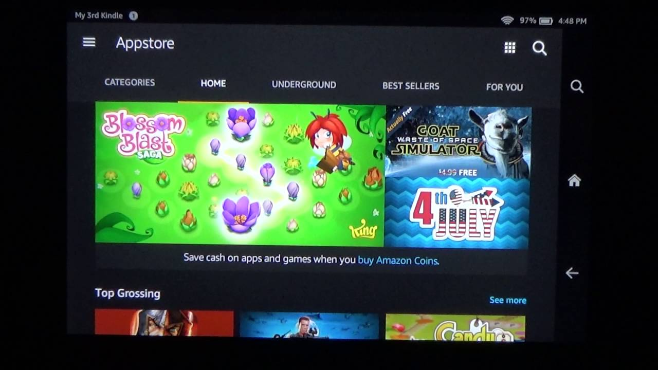 How to update a game, like MINECRAFT PE, on your Kindle Fire