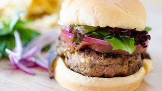 Feta Basil Turkey Burgers Recipe - Quick and Easy Dinner Idea