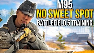 BATTLEFIELD 5 Training (No Sweet spot) M95 Sniper Gameplay in Battlefield 1