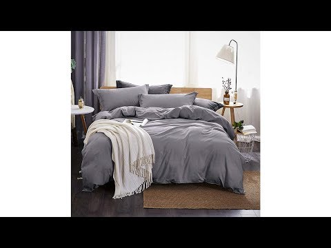 bedding-sets,-solid-color-soft-and-breathable-with-zipper