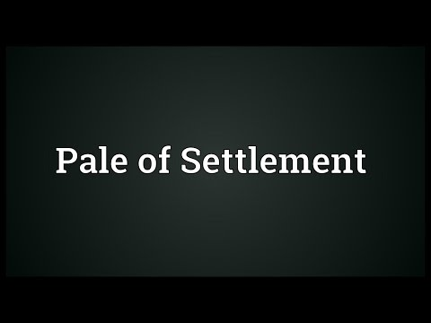 Pale of Settlement Meaning