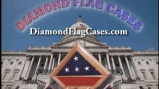Diamond Flag Case Memorial Burial Flag Display Cases Shadow Boxes