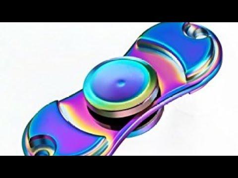 Fidget Spinner Amazon Review Description Rainbow Alloy