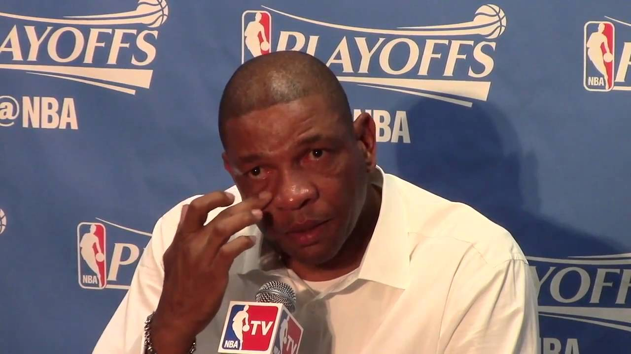 Doc Rivers Gets Emotional Before Game 5 Doc Rivers cry