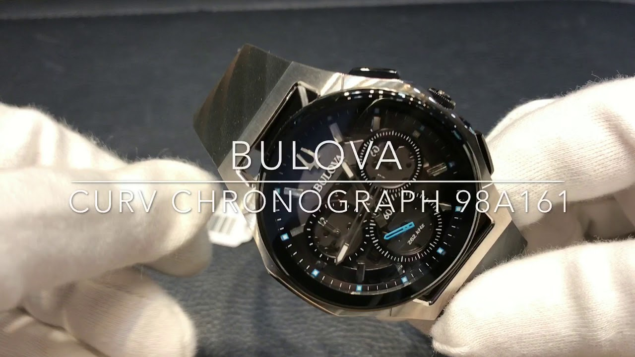 6ec9d4991 Bulova Curv Chronograph 98A162 - YouTube