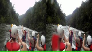 "3D Ocoee River Whitewater Rafting 19 ""Idiot Rock"""