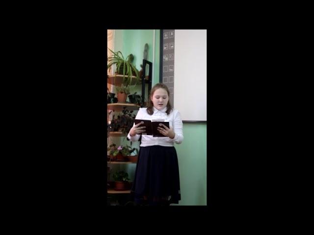 Изображение предпросмотра прочтения – ЕлизаветаЛюбимова читает произведение «Стихотворение в прозе Нищий» И.С.Тургенева