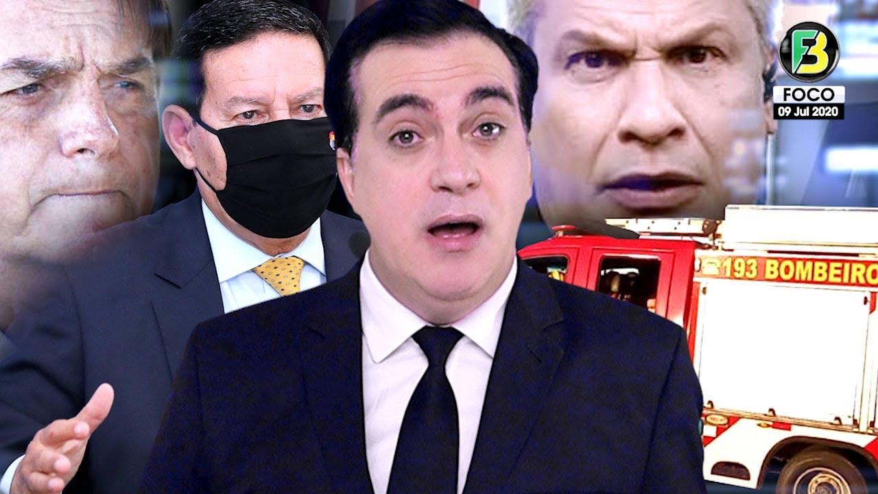Resgate e Bombeiros na residência oficial de Bolsonaro! Mourão faz ALERTA! Sikêra Jr rebate e mais!