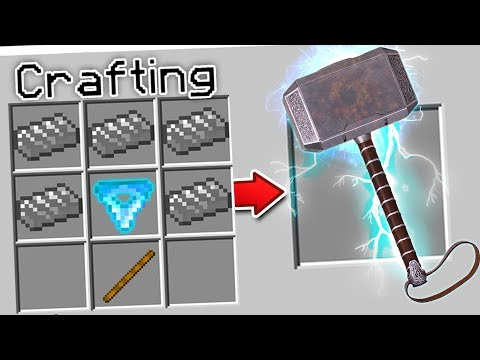 CRAFTING THOR'S HAMMER IN MINECRAFT!!