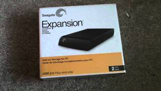 Seagate External Hardrive Unboxing