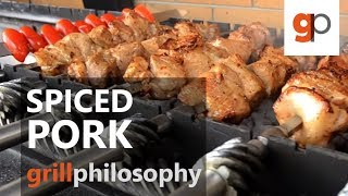 Pork grill spicy and scented