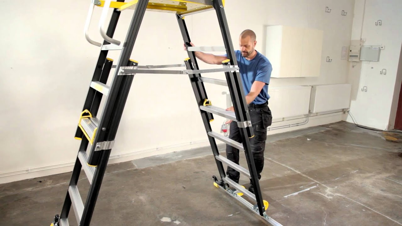 Wibe Ladders Height Adjustable Working Platform Hap
