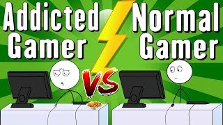 Addicted Gamer VS Normal Gamer | Azzloo