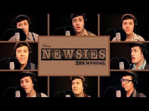 One Man Newsies (Nick Pitera) Disney's Newsies Broadway Medley