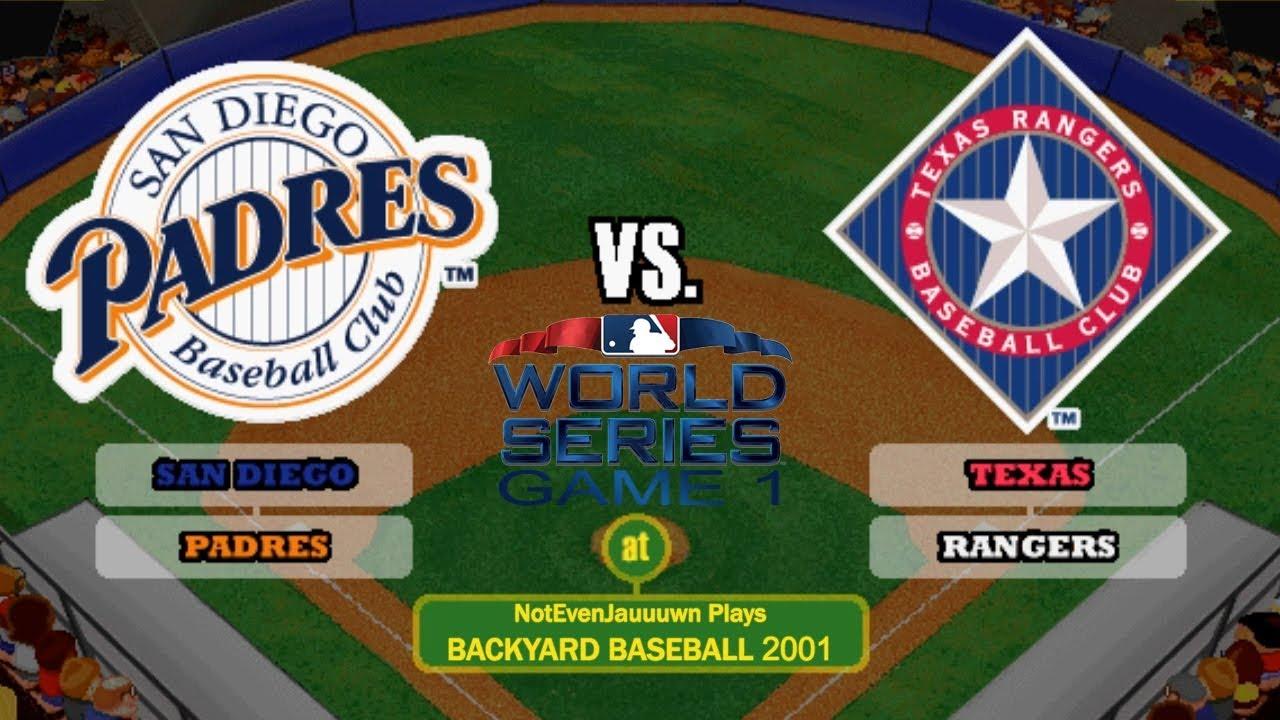 World Series Backyard Baseball 2001 World Series Game 1 Texas