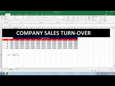 Lesson - 07 Data Entry For Job In Excel In Hindi [ Company ...