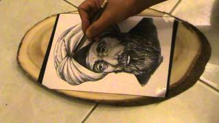 Basics Of Pyrography (woodburning)portrait Part 3