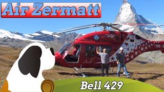 Air Zermatt Heli Bell 429 In Front Of The Matterhorn