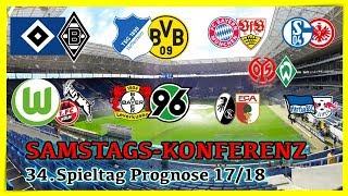 Bundesliga 34.Spieltag - Die große Konferenz (Alle 9 Spiele) - FIFA 18 Prognose 2017/18 Deutsch (HD)