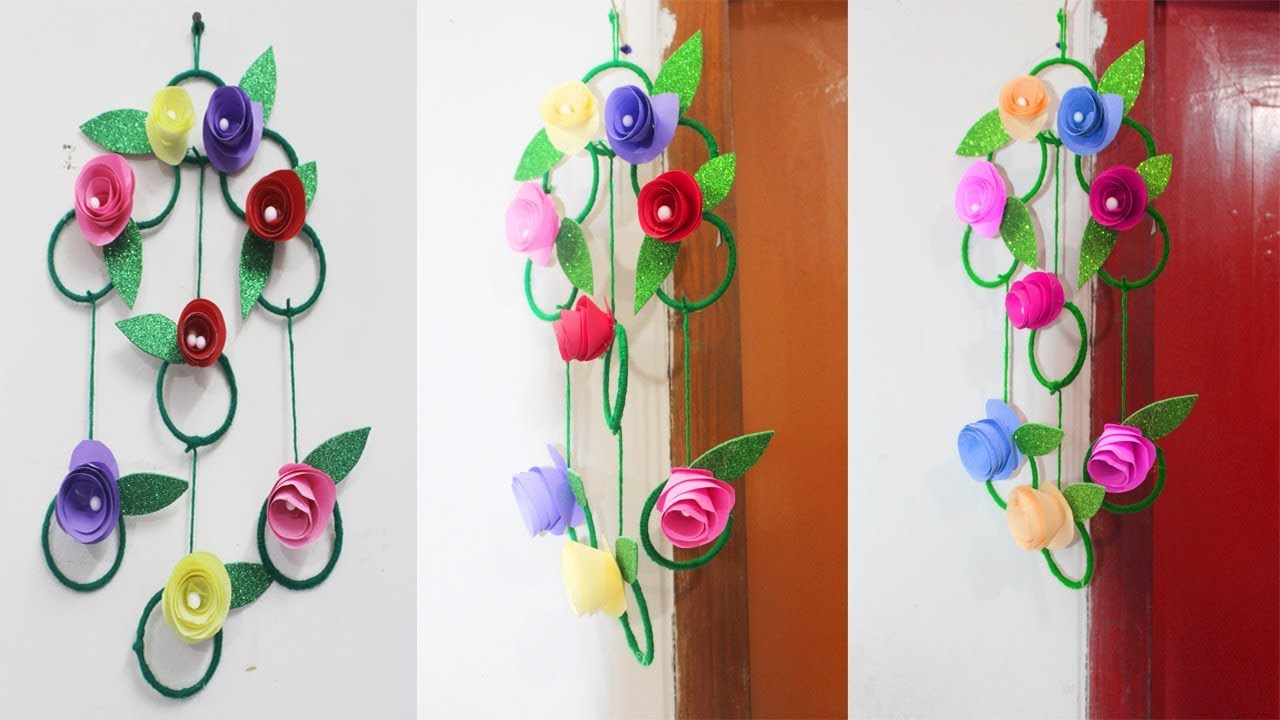 Diy Wall Hanging Out Of Paper How To Make Easy Paper Wall Hanging