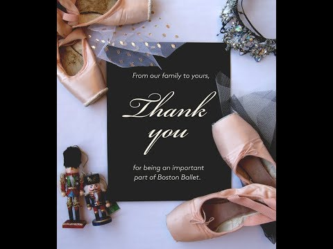 Thank You from Boston Ballet
