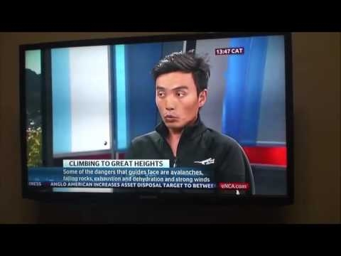 Tashi Chhumbel Sherpa on ECNA News Channel in Cape Town (South Africa)