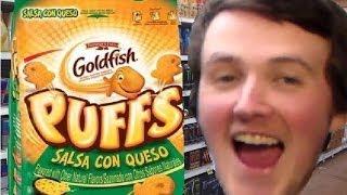 Travtries - Goldfish Puffs: Salsa Con Queso