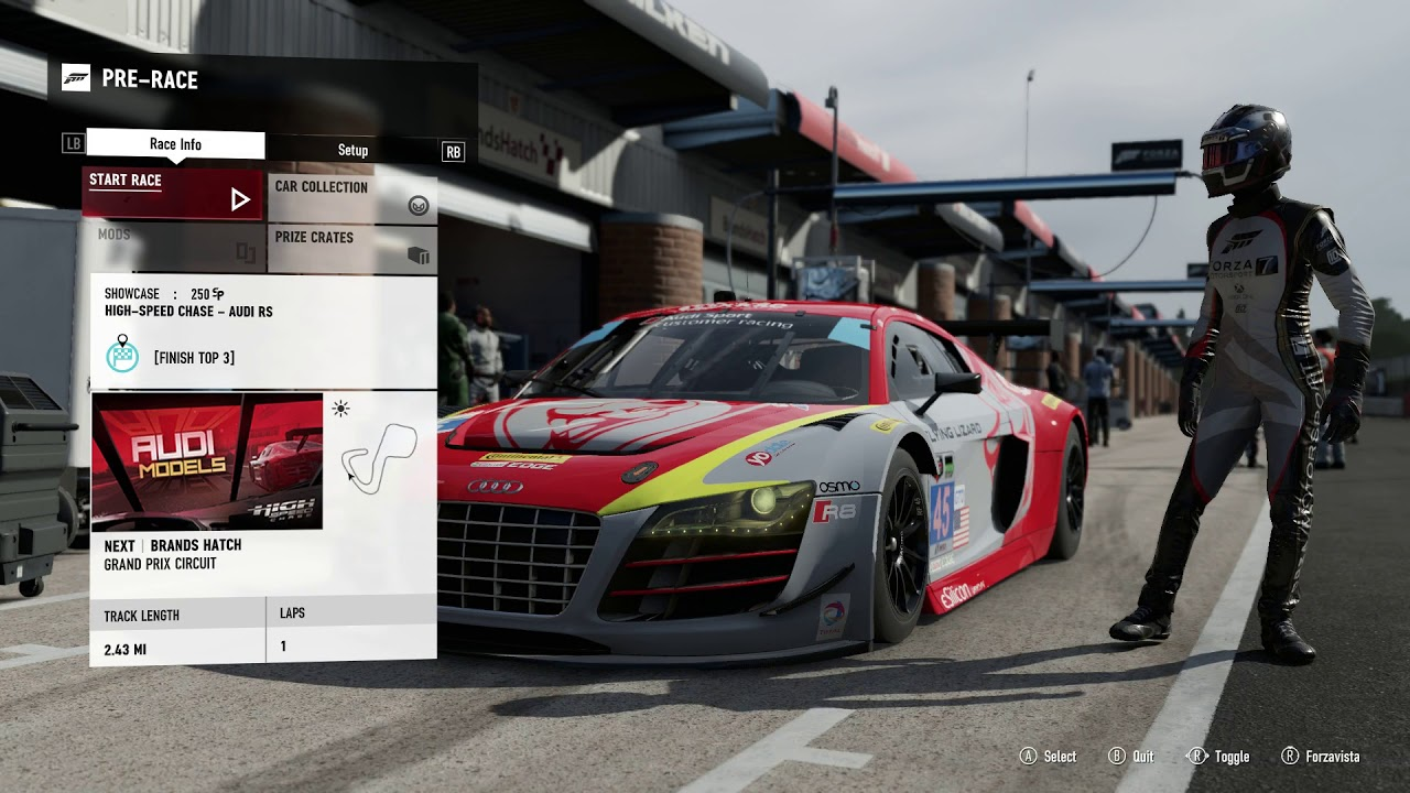 FORZA MOTORSPORT AUDI RS HIGH SPEED CHASE CAREER GAMEPLAY - Audi career