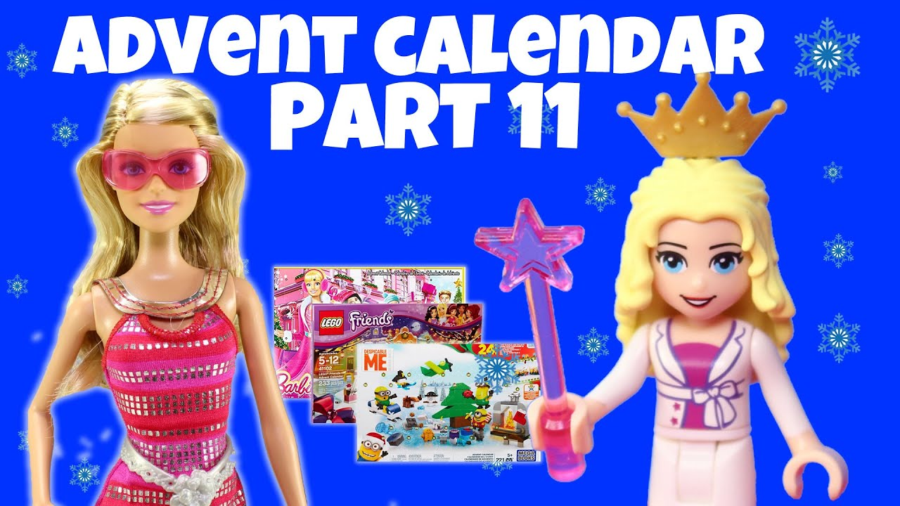 ... Minions Surprise Christmas Holiday Advent Calendar Part 11 - YouTube