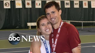 Engaged Special Olympics tennis partners support each other on and off the court | GMA
