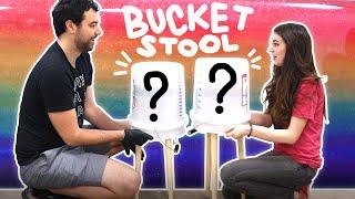DIY Resin Bucket Stool (with RAINBOW & HOLO)