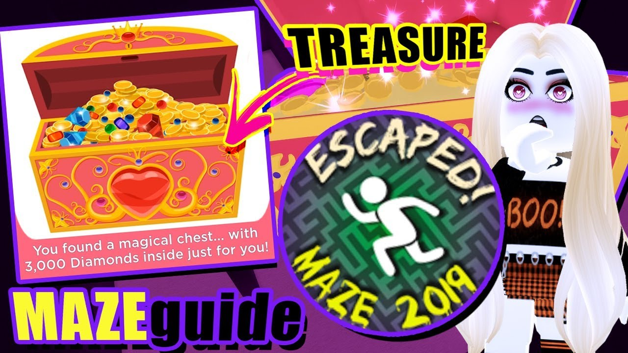 [VIDEO] - MAZE GUIDE! BADGE & TREASURE CHEST LOCATIONS! Royale High Autumn Town 2019 Update 3