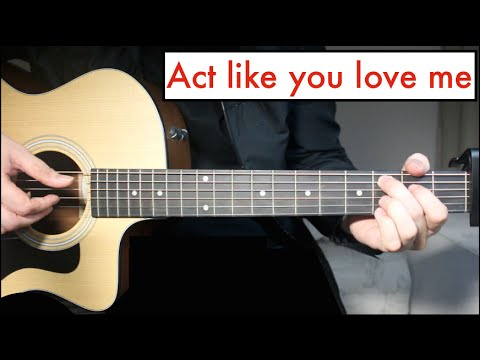 Act Like You love Me - Shawn Mendes | Guitar Lesson Chords - YouTube