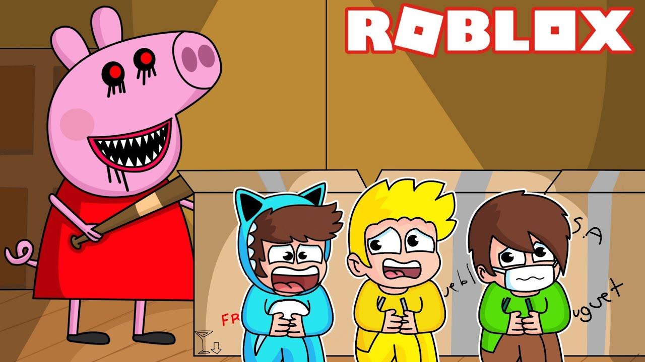 BEBE MILO ESCAPA del PARKOUR de PIGGY mas TROLL de ROBLOX 💥 Con  Vita y Adri
