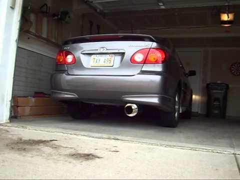 2005 Toyota Corolla Xrs >> 2004 Corolla Exhaust - YouTube