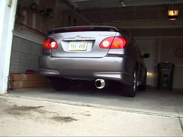 2004 corolla exhaust youtube