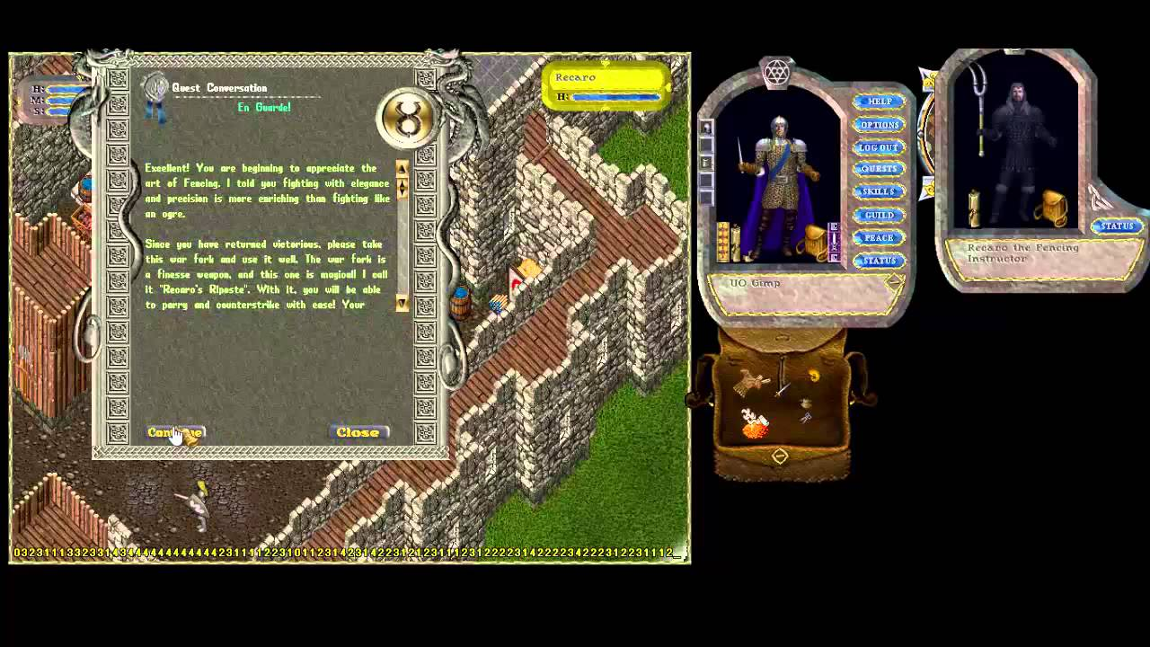 ultima online paladin training starting from scratch youtube