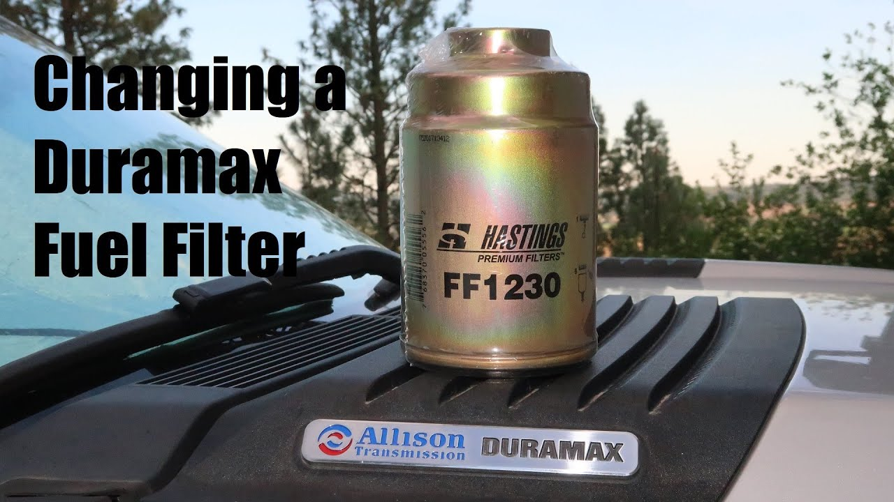 hight resolution of duramax 6 6l fuel filter change