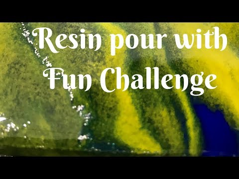 Fun Challenge included | Blue, Yellow, White and Silver Glitter Resin pour