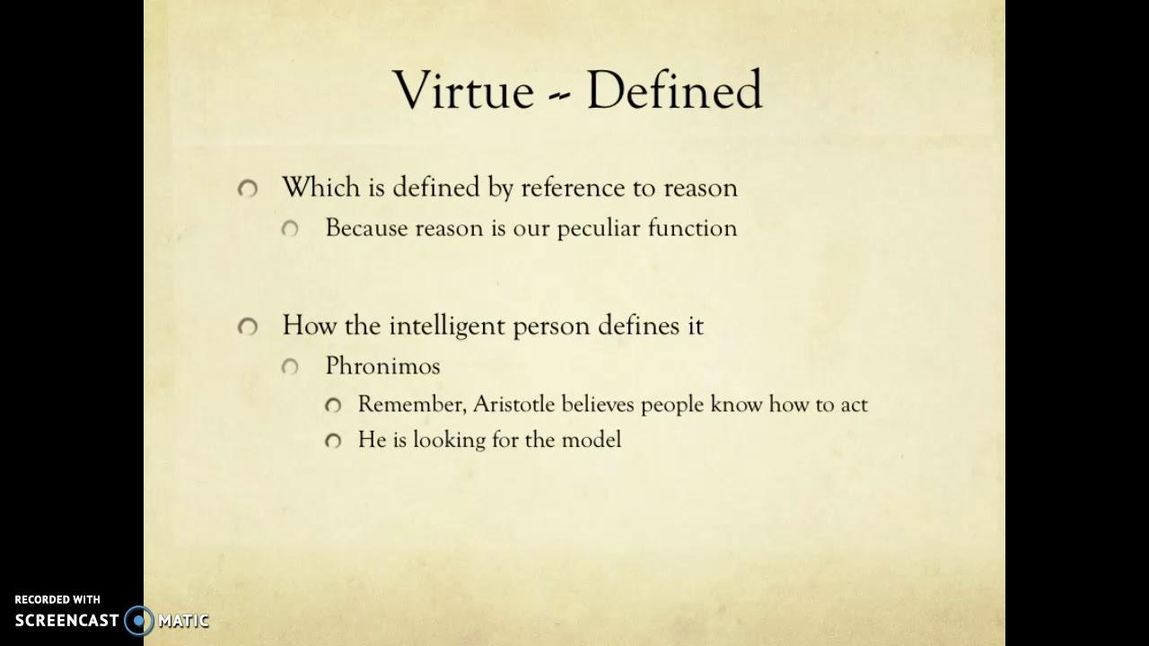 aristotle intellectual virtues