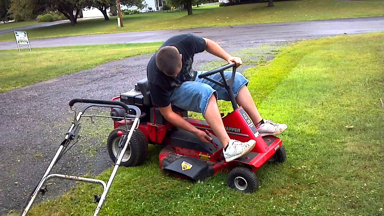 Snapper 12 28 Riding Lawn Mower Test Run Drive Test For
