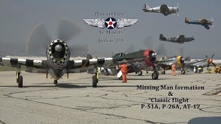 4 P-47 Thunderbolt's Missing Man flight, Planes of Fame airshow 2019